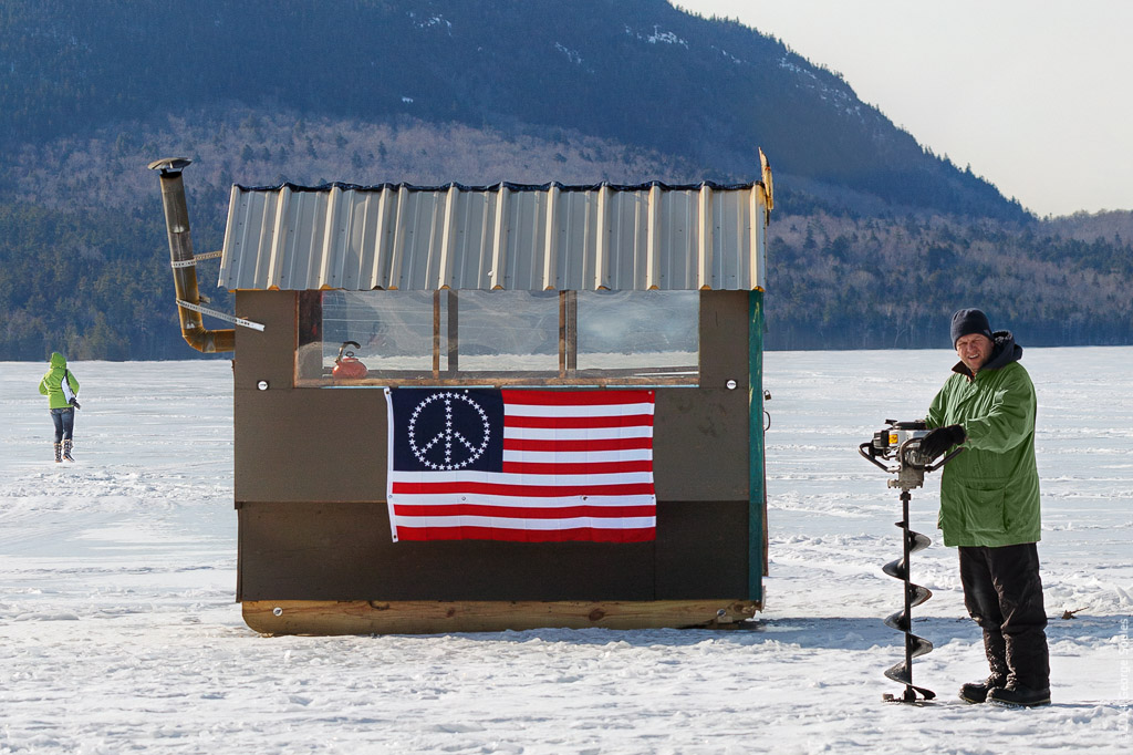 George soules photography ice fishing on eagle lake for Desert island fishing