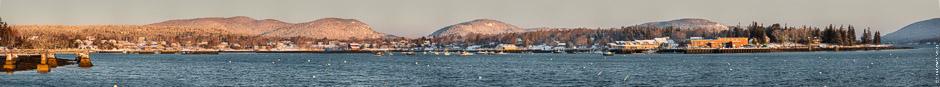 Southwest Harbor Maine Panorama