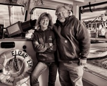 Linda and Dan on the Elizabeth T.